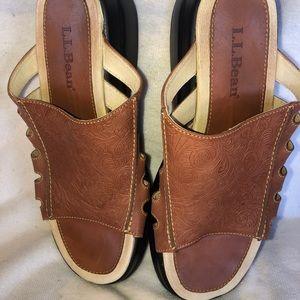 NWOT LL Bean Women's Size 8M Sandal Slides